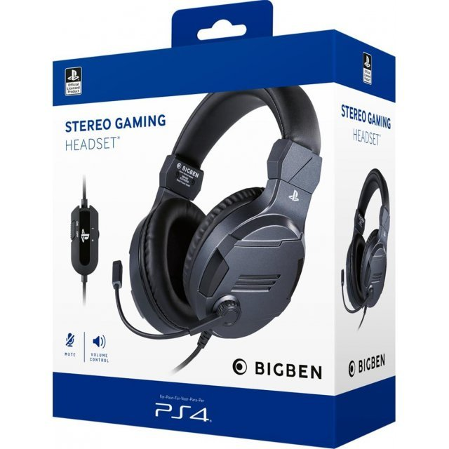 Bigben Stereo Gaming Headset V3 for PS4/PC/MAC (Titanium)