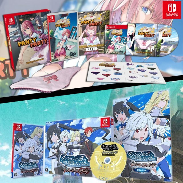 Panty Party [Limited Edition] + Is It Wrong to Try to Pick Up Girls in a Dungeon? Infinite Combate [Limited Edition] (Multi-Language)