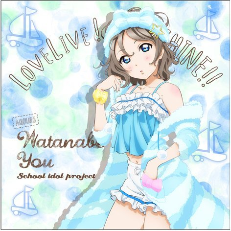 Love Live! Sunshine!! - You Watanabe Cushion Cover Pajama Ver.