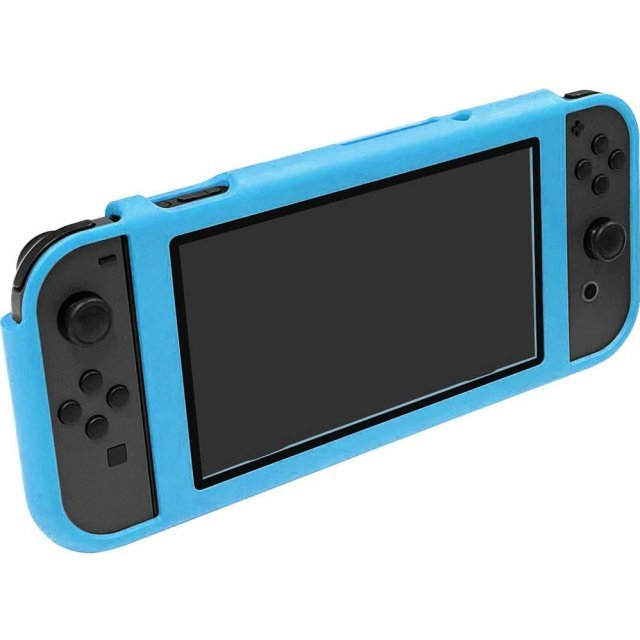 CYBER ・ Magnet Bumper with Glass Panel for Nintendo Switch (Blue)