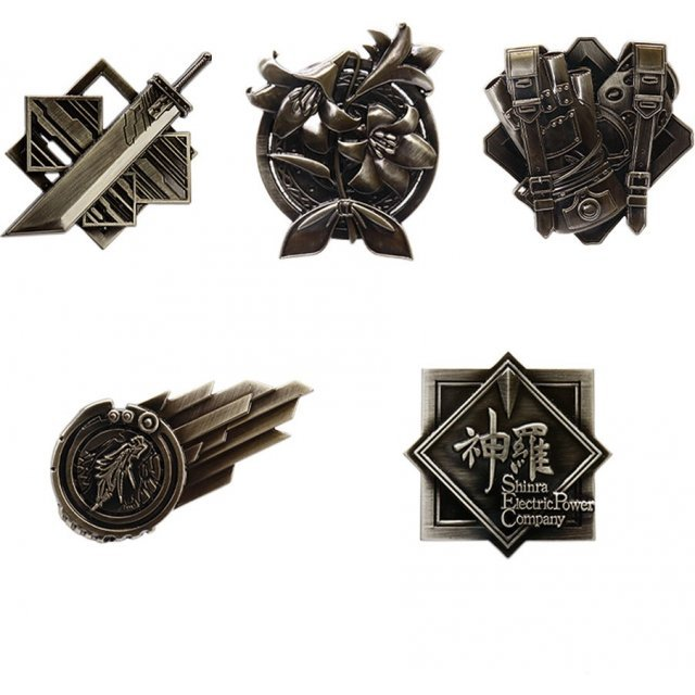 Final Fantasy VII Remake Pin Badge (Set of 10 pieces)
