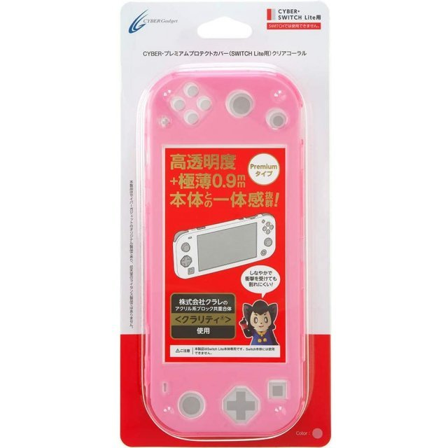 CYBER · Premium Protection Cover for Nintendo Switch Lite (Clear Coral)
