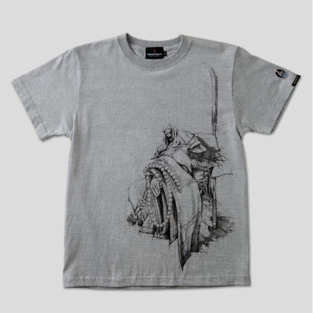 Sekiro: Shadows Die Twice Torch Torch T-shirt Collection: Corrupted Monk Heather Gray (XL Size)