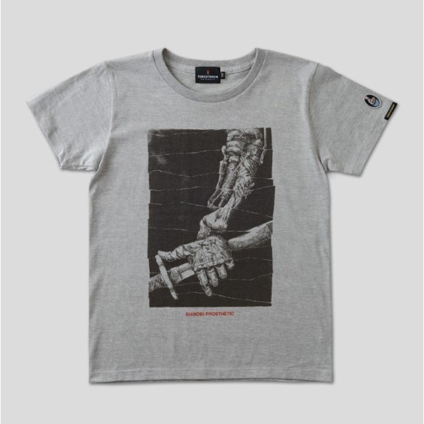 Sekiro: Shadows Die Twice Torch Torch T-shirt Collection: Shinobi Prosthetic Heather Gray Ladies (M Size)