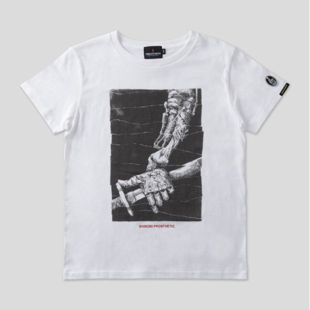 Sekiro: Shadows Die Twice Torch Torch T-shirt Collection: Shinobi Prosthetic White Ladies (M Size)