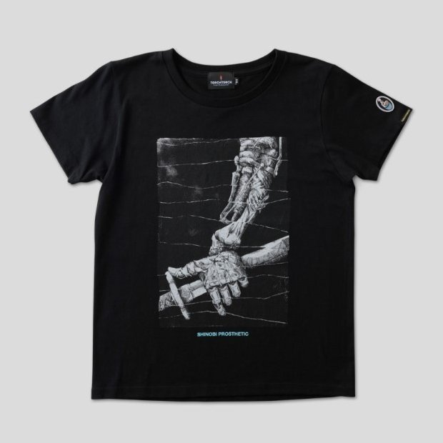 Sekiro: Shadows Die Twice Torch Torch T-shirt Collection: Shinobi Prosthetic Black Ladies (L Size)