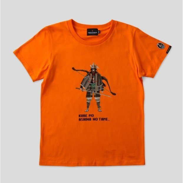 Sekiro: Shadows Die Twice Torch Torch T-shirt Collection: Pixel Genichiro Orange Ladies (L Size)
