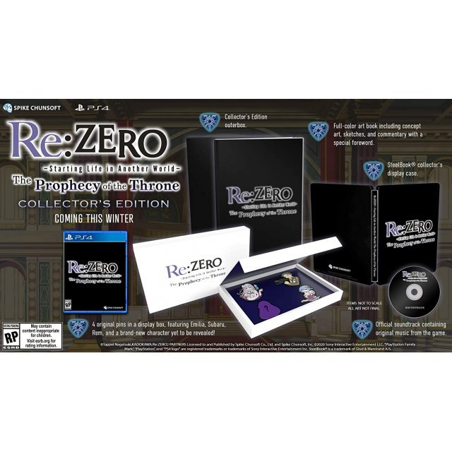 Re:ZERO - Starting Life in Another World: The Prophecy of the Throne [Collector's Edition]