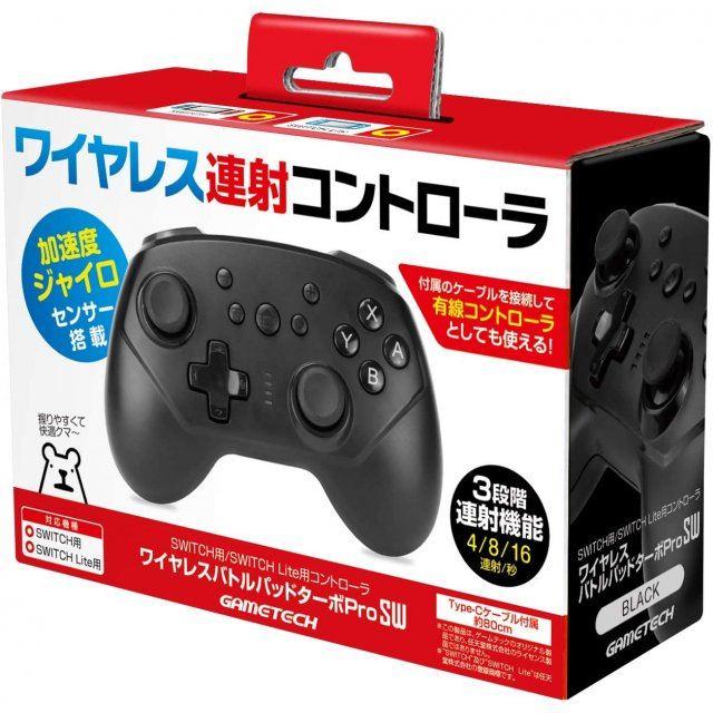 Wireless Battle Pad Turbo Pro for Nintendo Switch (Black)