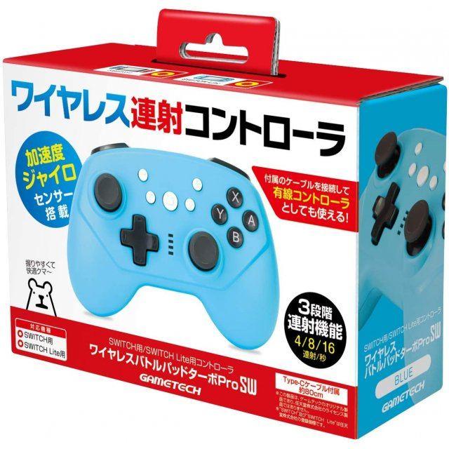 Wireless Battle Pad Turbo Pro for Nintendo Switch (Blue)