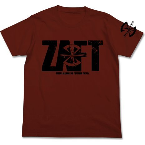 Mobile Suit Gundam Seed - Z.A.F.T Logo T-shirt Burgundy (XL Size)