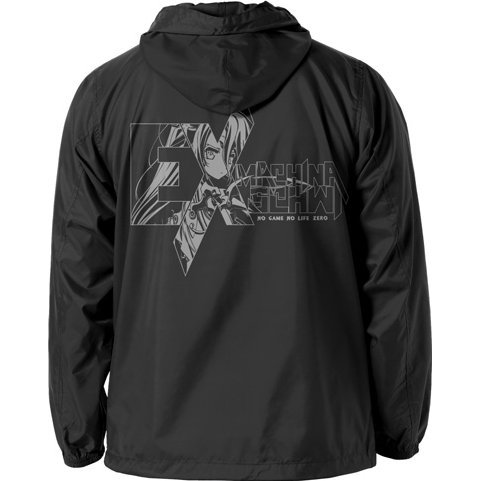 No Game No Life Zero - Schwi Hooded Windbreaker Black x White (L Size)