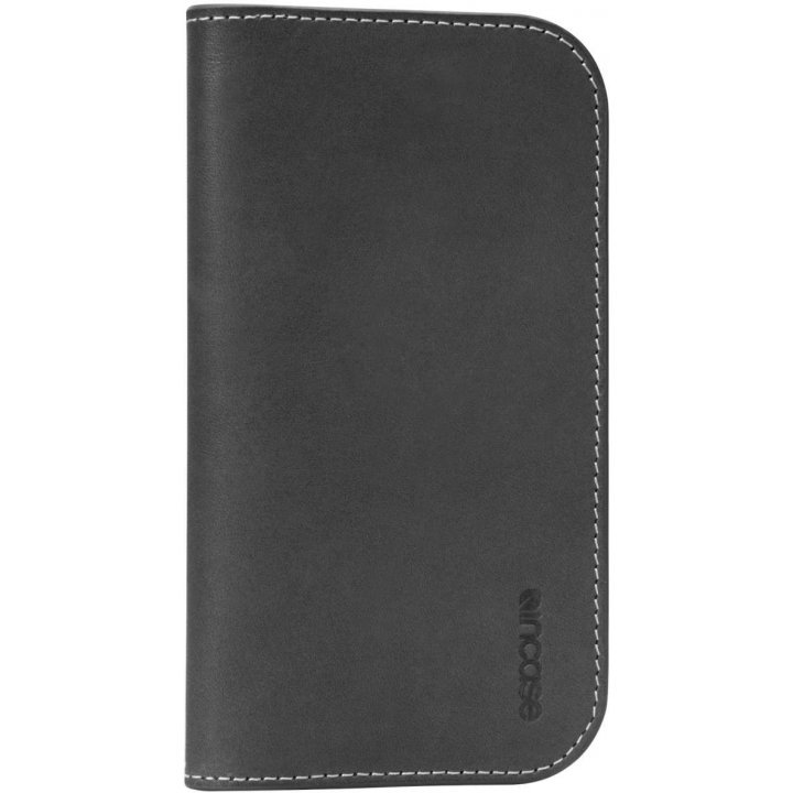 Incase Leather Wallet (Black/Tan)