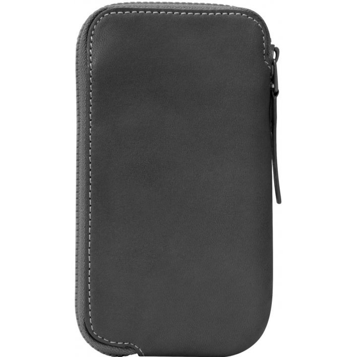 Incase Leather Zip Wallet (Black/Tan)