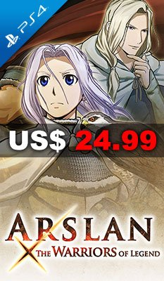 PS4 ARSLAN: THE WARRIORS OF LEGEND 美版