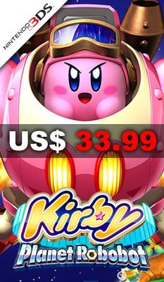 美版 Kirby: Planet Robobot 適用於 Nintendo 3DS™ (3DS)