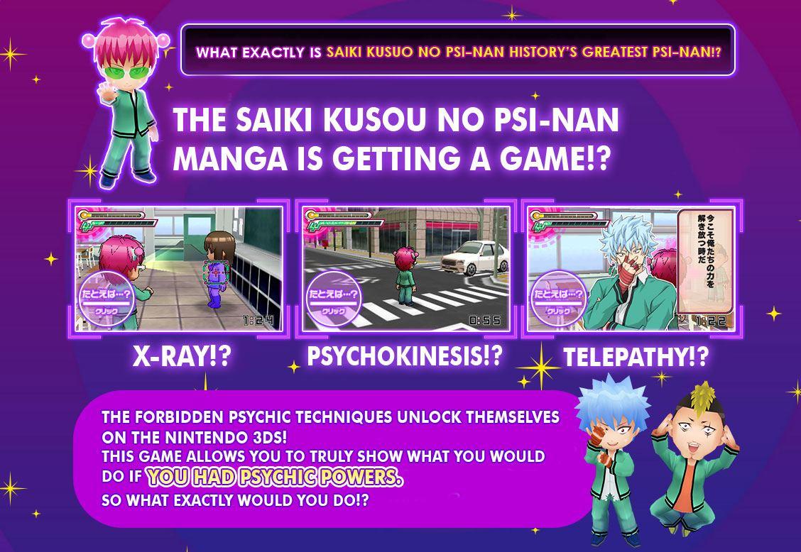Saiki Kusuo No Psi Nan Game Coming To The 3ds