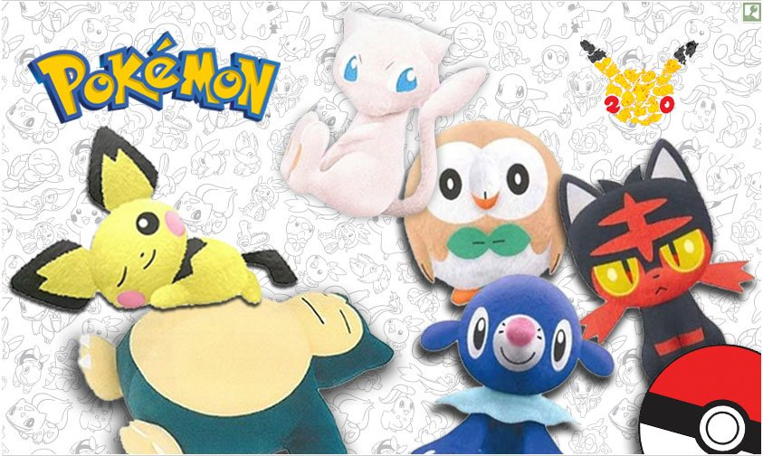 New Cute Plushes From The Poke Mart Pichu Mew Snorlax And More