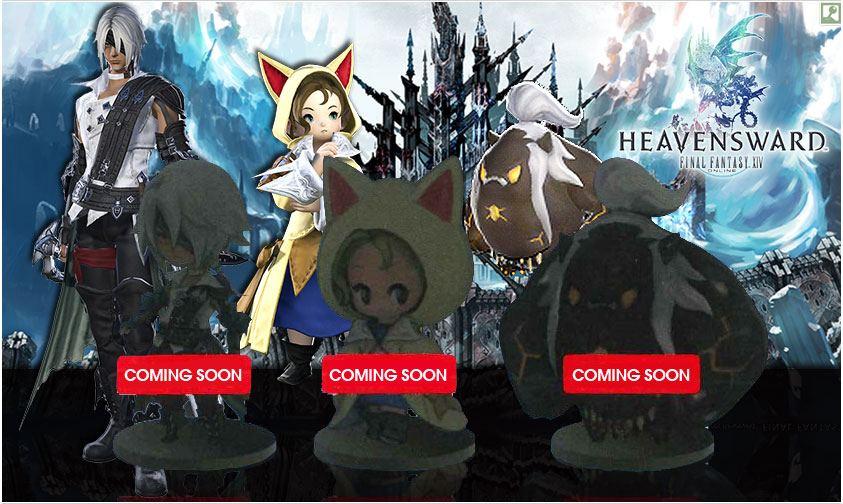 Chibi Final Fantasy XIV Minion Figure Vol 3: Thancred, Krile, and Titan!