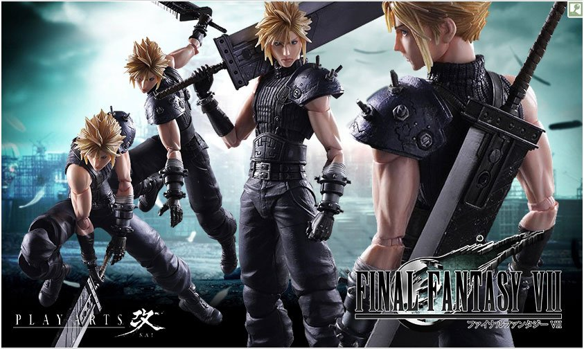 SW Games Anime Square Enix Announces Cloud Strife Play Arts Kai - Excel spreadsheet invoice template square enix online store