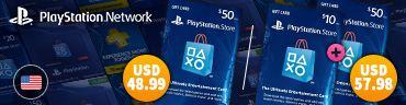 Playstation Network Card 50 USD   USA Account